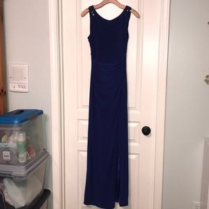 Cache Dresses - Long Navy Prom Dress